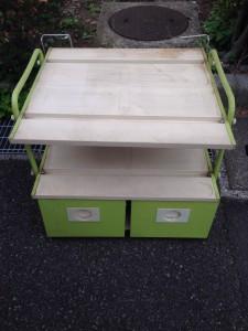 キッチンサイドボード レンジ台 スチール製 不用品 リサイクル ゴミ